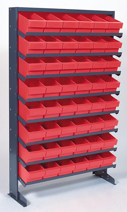 Quantum Sloped Shelving Systems with Euro Drawers - Single Sided Rack