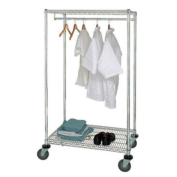 Quantum Stationary and Mobile Wire Garment Racks WRGR-63-2436