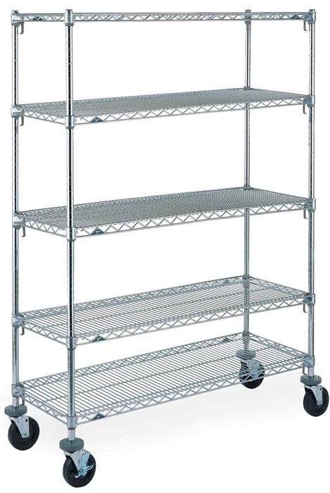 Metro Super Adjustable Super Erecta Stem Caster Cart - 5-Tier Model