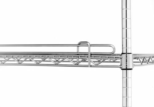 Metro Super Erecta 1 inch Shelf Ledges - Stainless Finish