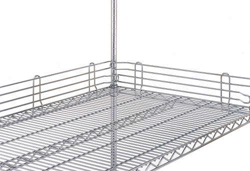 Metro Super Erecta 4 inch High Shelf Ledges - Plated Finish