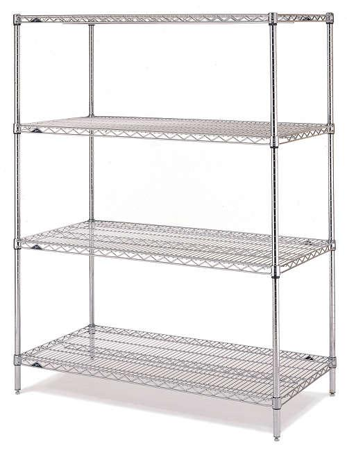 Metro Super Erecta Convenience Pak unit in chrome finish