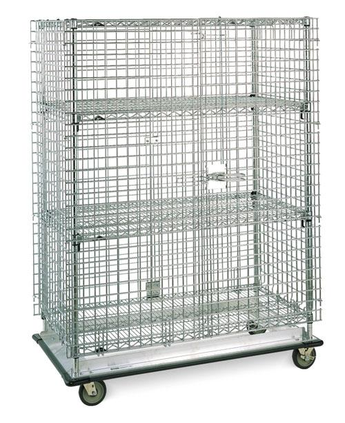Metro Super Erecta Heavy Duty Security shown with optional Super Adjustable intermediate shelves