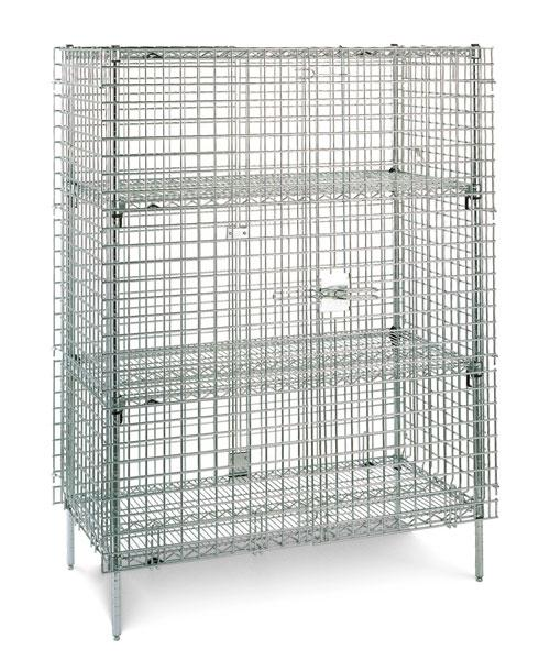 Metro Super Erecta Shelf Stationary Security (Shown with optional Super Adjustable intermediate shelves)