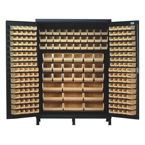 Quantum Super Wide Colossal Heavy Duty Cabinets QSC-60 with ivory bins