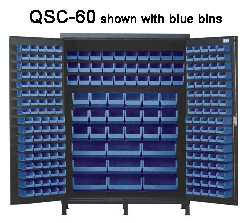 Quantum Super Wide Colossal Heavy Duty Cabinets QSC-60 with blue bins
