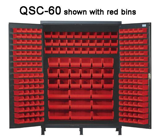 Quantum Super Wide Colassal Heavy Duty Cabinets QSC-60 with red bins