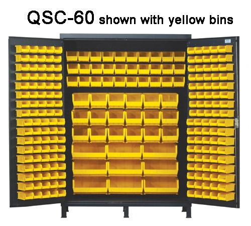 Quantum Super Wide Colossal Heavy Duty Cabinets QSC-60 with yellow bins