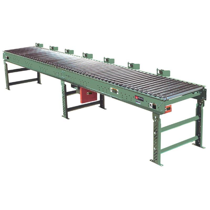 Roach Conveyors Smart Zone Line Shaft Zero Pressure Accumulator SZ Photo Eye Controlled Conveyor