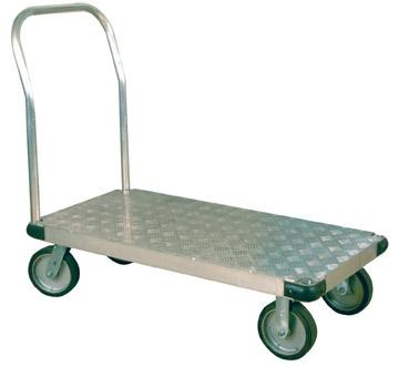 Thrifty Plate Aluminum Tread Platform Trucks - Commercial model