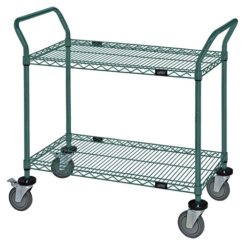 Quantum Proform Green Epoxy Wire Utility Carts