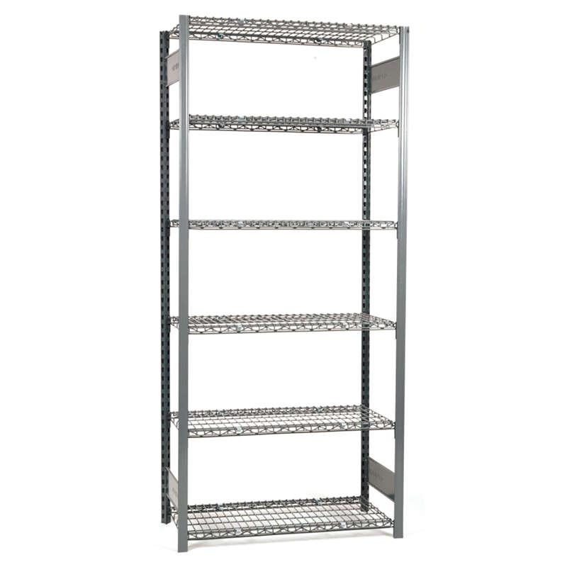 Equipto V-Grip Wire Shelving 48 Inch Width Starter Unit
