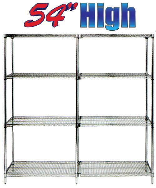Stromberg Wire Shelving chrome shelves