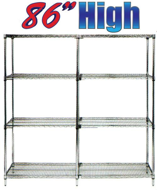 Stromberg Wire Shelving chrome shelf