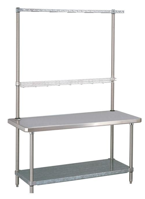 Metro Work Tables with Overhead