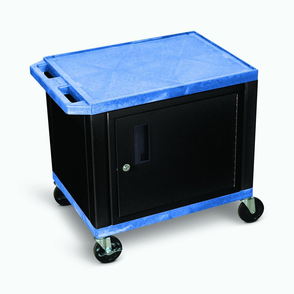 LUXOR AV Blue Cart - 2 Shelf or Cabinet