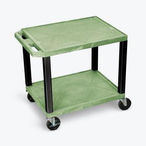 LUXOR Green AV Cart - 2 Shelf or Cabinet